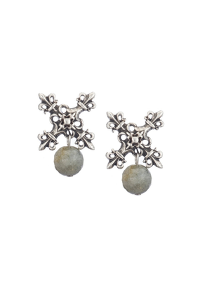 FRENCH KANDE GRAY LABRODORITE EARRING