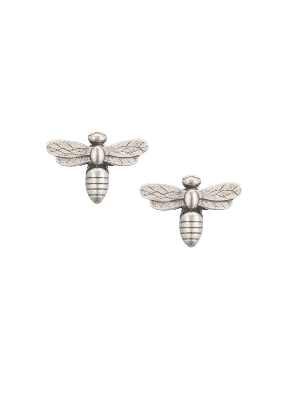 FRENCH KANDE Silver Miel Stud Earrings