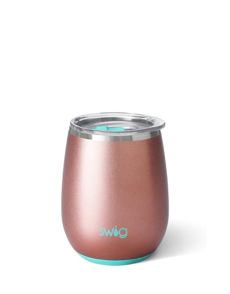SWIG SHIMMER ROSE GOLD WINE CUP (14 OZ)