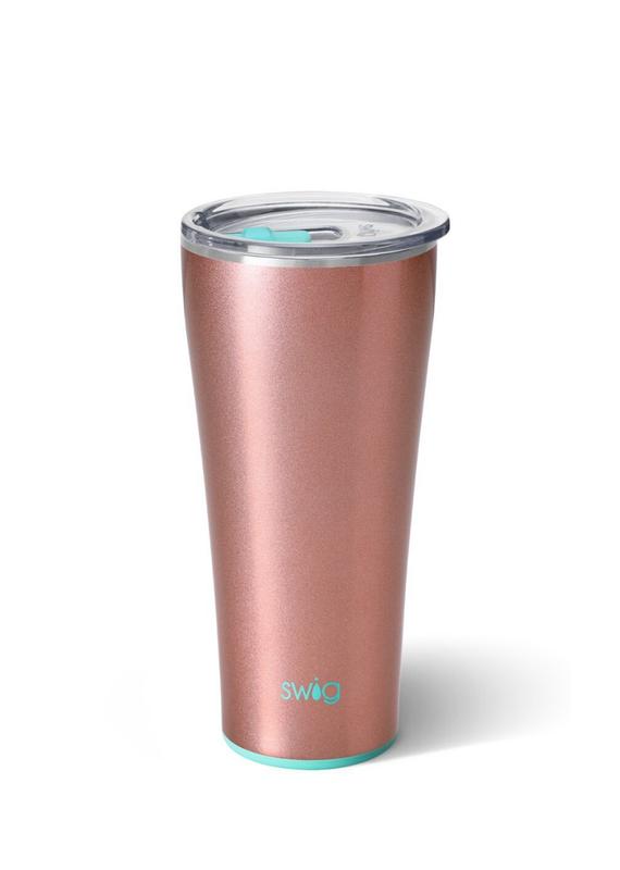 SWIG Shimmer Rose  Glass Tumbler  (32 OZ)