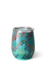 SWIG Copper Patina Stemless Cup  (14 OZ)
