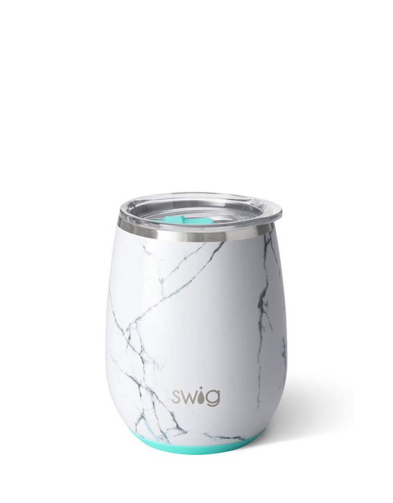 SWIG MARBLE SLAB STEMLESS WINE CUP (14 OZ)
