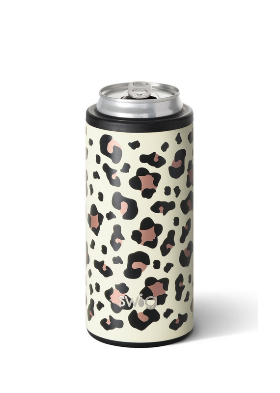 SWIG Luxy Leopard Skinny Can Cooler  (12OZ)