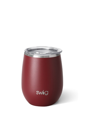 SWIG Matte Maroon Stemless Cup  (14OZ)