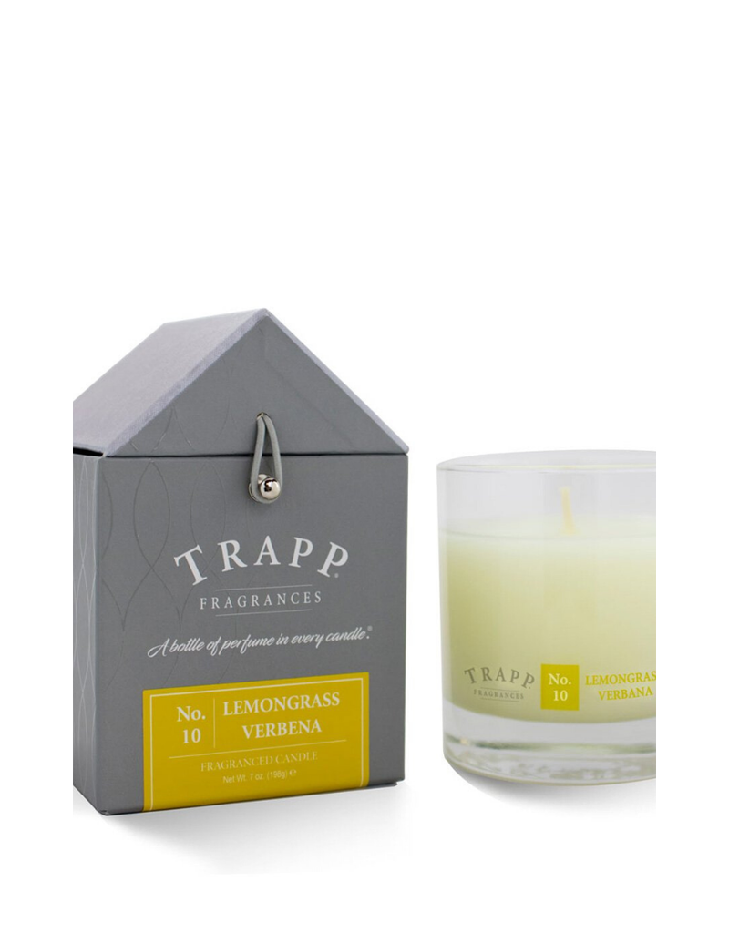 TRAPP CANDLES NO. 10 LEMONGRASS VERBENA 7 OZ