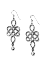 BRIGHTON INTERLOK ENDLESS KNOT FRENCH WIRE EARRINGS