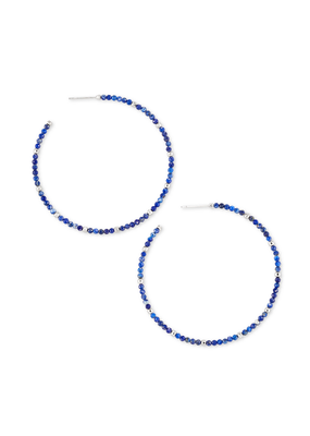 KENDRA SCOTT SCARLET HOOP EARRINGS BLUE LAPIS