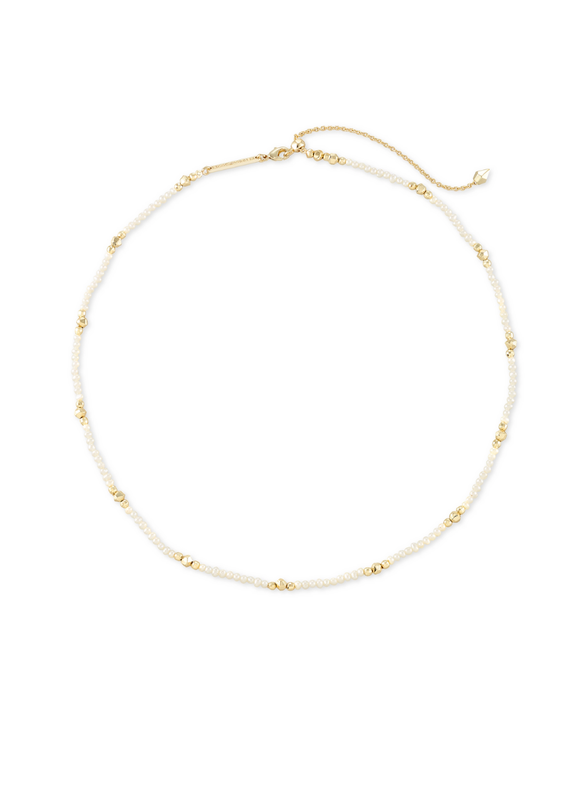 KENDRA SCOTT SCARLET CHOKER NECKLACE WHITE PEARL