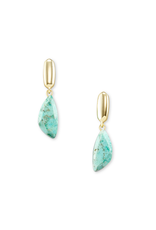 KENDRA SCOTT IVY DROP EARRINGS GREEN CHRYSOCOLLA