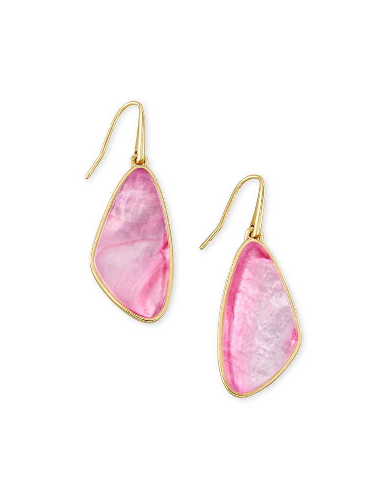KENDRA SCOTT MCKENNA SMALL DROP EARRINGS BLUSH MOTHER OF PEARL