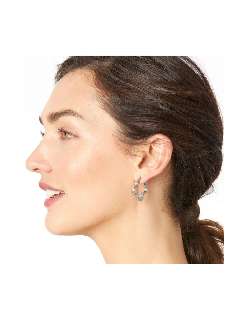 BRIGHTON TOLEDO COLLECTIVE PAVE HOOP EARRINGS