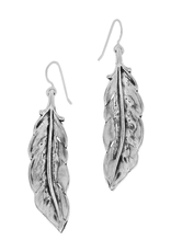 BRIGHTON CONTEMPO ICE FEATHER EARRINGS