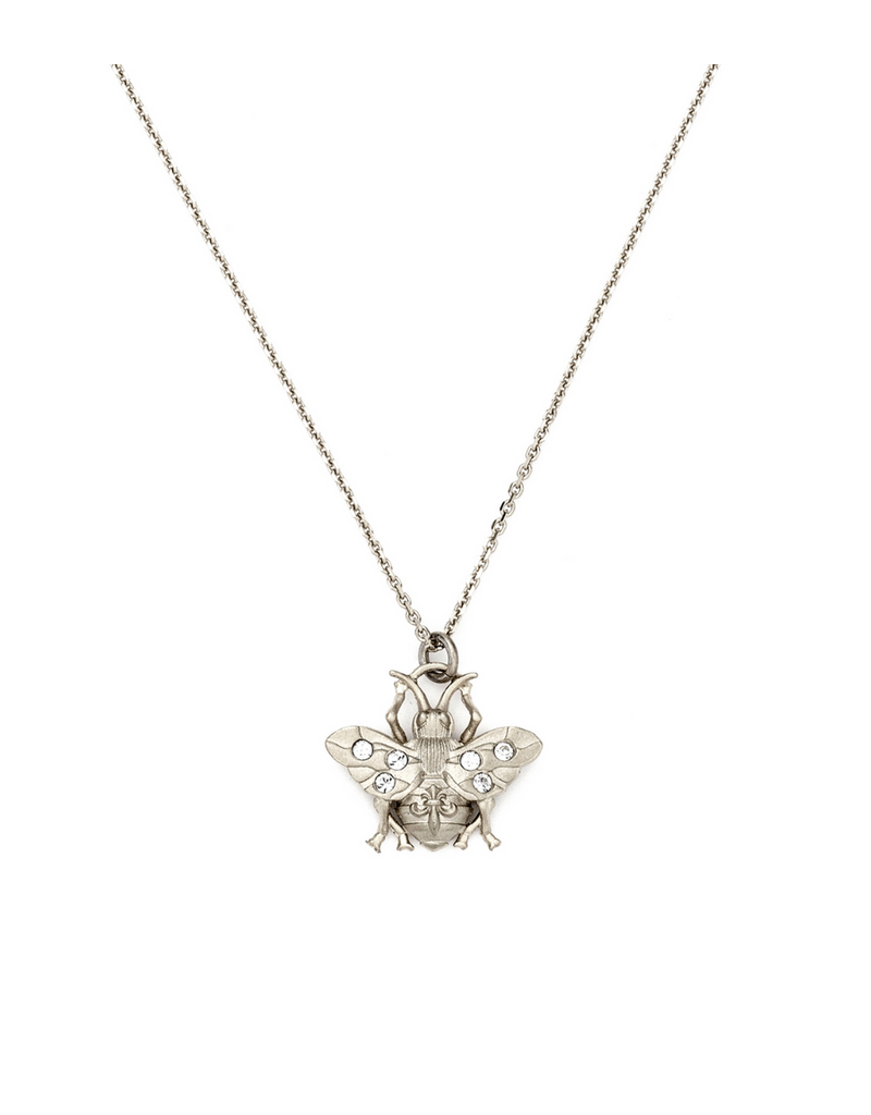 FRENCH KANDE MICRO FK BEE NECKLACE SILVER