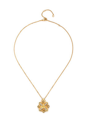 FRENCH KANDE ARLES NECKLACE WITH SWAROVSKI KISS STACK GOLD