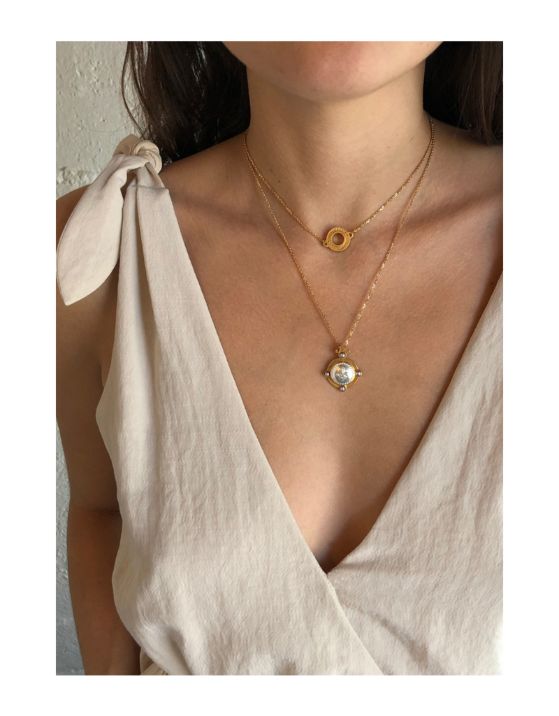 FRENCH KANDE ANNECY NECKLACE GOLD