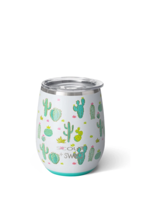 SWIG SCOUT-CACTUS MAKES PERFECT STEMLESS WINE CUP (14OZ)