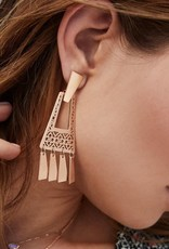 KENDRA SCOTT KASE ROSE GOLD EARRINGS