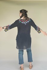 JOHNNY WAS GRAPHITE TUNIC TOP