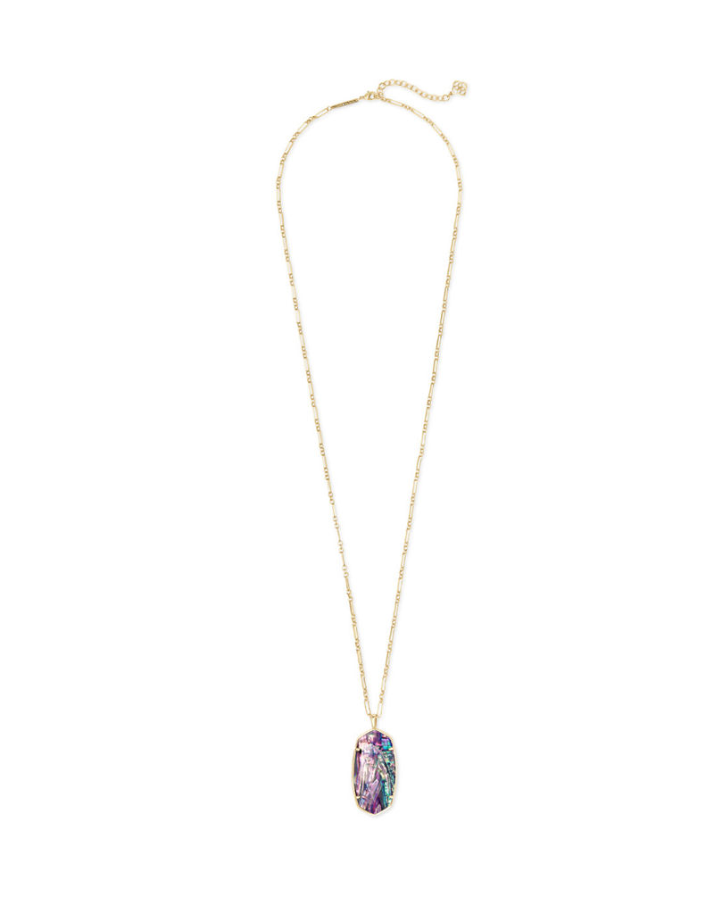 KENDRA SCOTT FACETED REID GOLD ABALONE NECKLACE