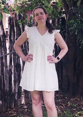 IVORY EYELET DRESS