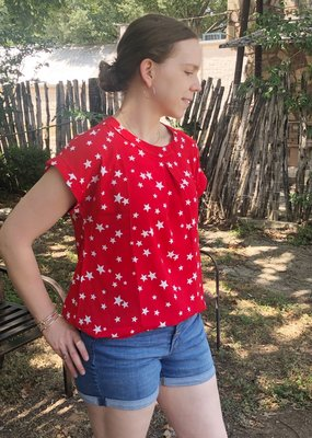 RED TOP WITH STARS