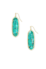 KENDRA SCOTT LAYLA DROP TEAL GOLD