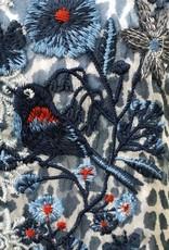 JOHNNY WAS Bluewell Chiffon Blouse Leopard