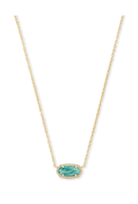 KENDRA SCOTT ELISA NECKLACE GOLD TEAL AMAZONITE