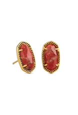 KENDRA SCOTT Ellie Earring Gold Burnt Sienna
