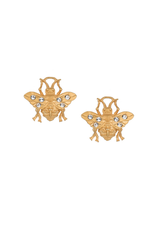FRENCH KANDE MICRO FK BEE STUD EARRINGS GOLD