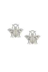 FRENCH KANDE MICRO FK BEE EARRINGS SILVER