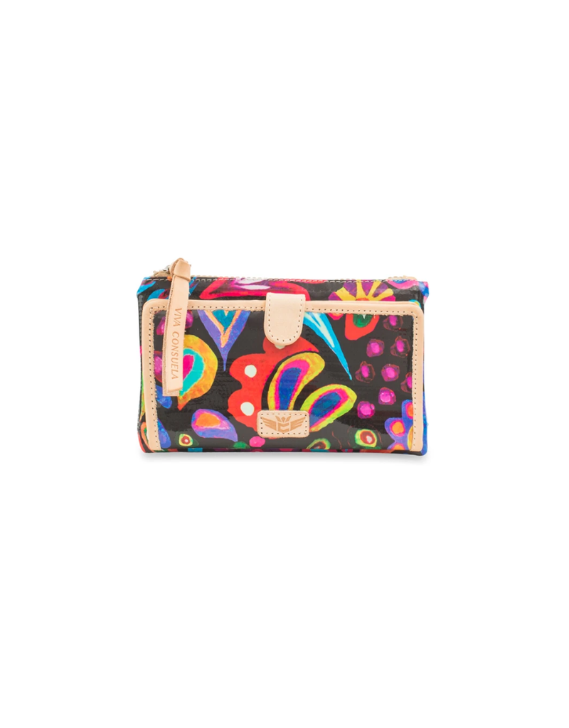 CONSUELA SOPHIE BLACK SWIRLY SLIM WALLET