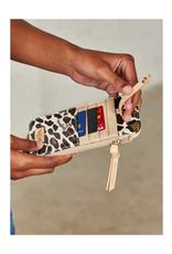 CONSUELA Mona Brown Leopard Card Organizer