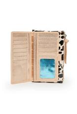 CONSUELA Mona Brown Leopard Slim Wallet
