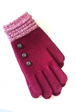 BRITS KNITS RED KNIT GLOVES
