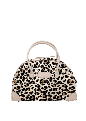 CARRY- ON LEOPARD CANVAS