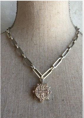 "FRENCH KANDE 16-19"" VERSAILLES CHAIN WITH MARMONDE BEZEL AND SWAROVSKI CABS"