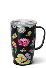 SWIG Fleur Noir Travel Mug 18 OZ