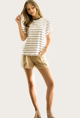 THML Stripe Short Sleeve Top