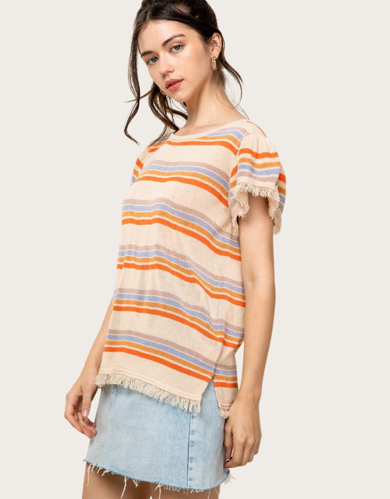THML Knitted Stripe Top