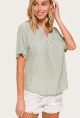 Short Sleeve Top in Mint