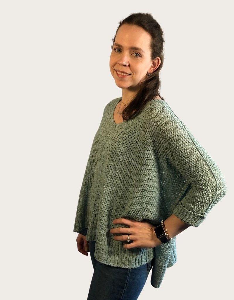 ADORA Round Neck Knitted Sweater