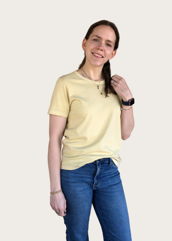 LE BON Vintage Tee in Yellow