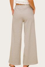 HEM & THREAD Wide Leg Striped Trouser