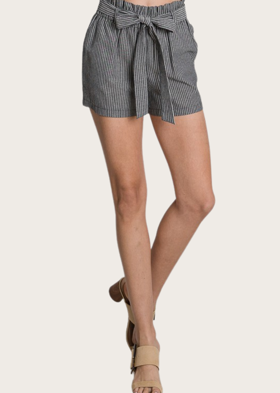 HAVE Linen Shorts Black