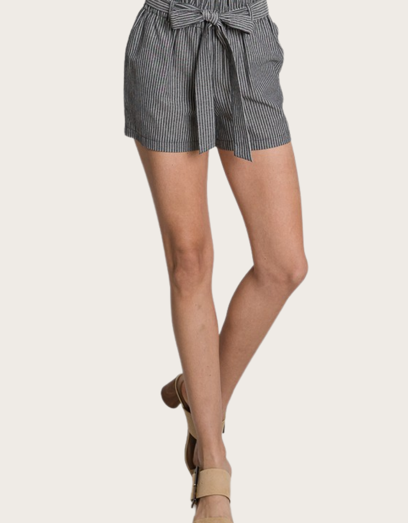 HAVE Linen Shorts Black