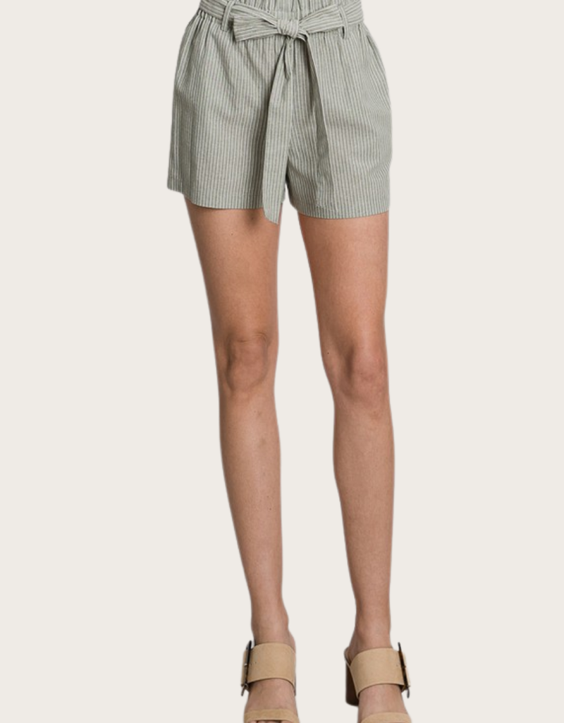 MUSTHAVE Linen Shorts Sage