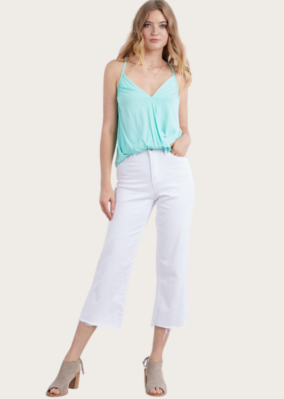 JUDY BLUE White Hi Waist Wide Leg