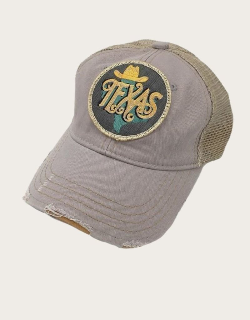 JUDITH MARCH Metalic Texas Patch Hat