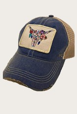 JUDITH MARCH Boho Steerhead Patch Hat